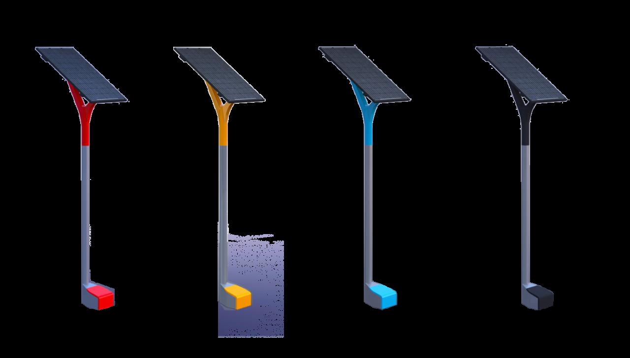Die Solarsäule ist in verschiedenen Farben erhältlich, fragen Sie uns nach den Möglichkeiten