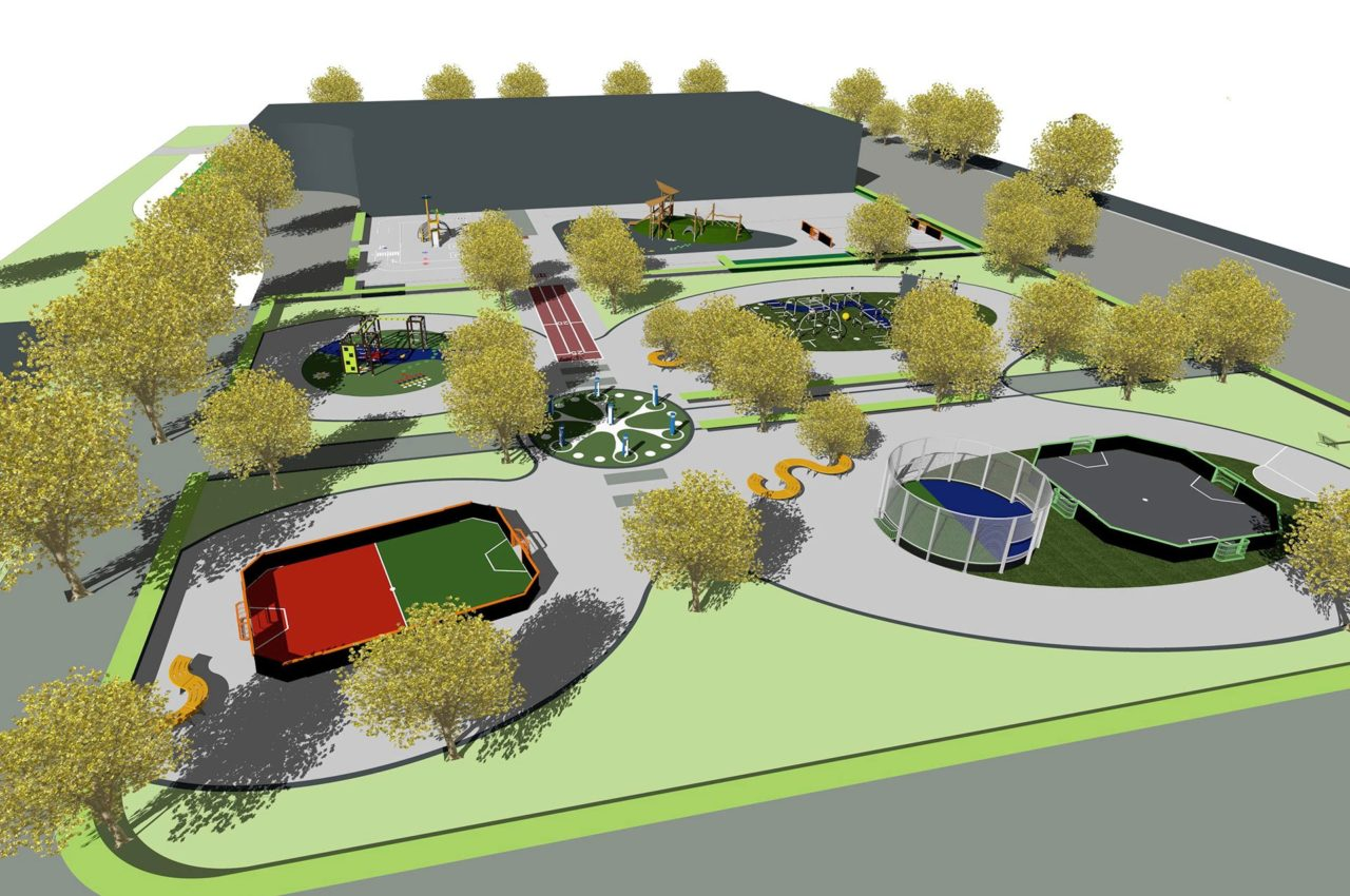 Yalp Design Service - Playground and sports field