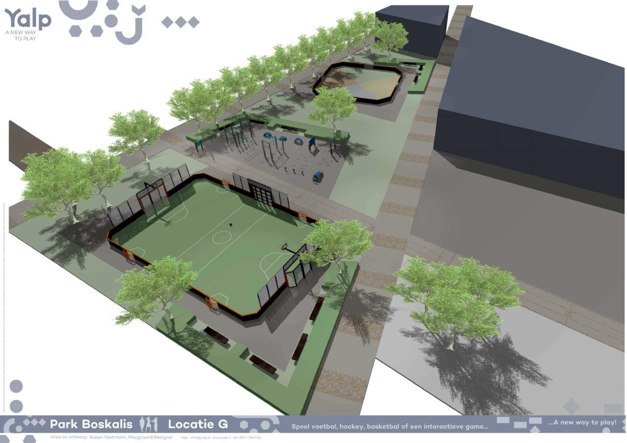 Design sports facility with Yalp Toro - Multi-purpose sports field