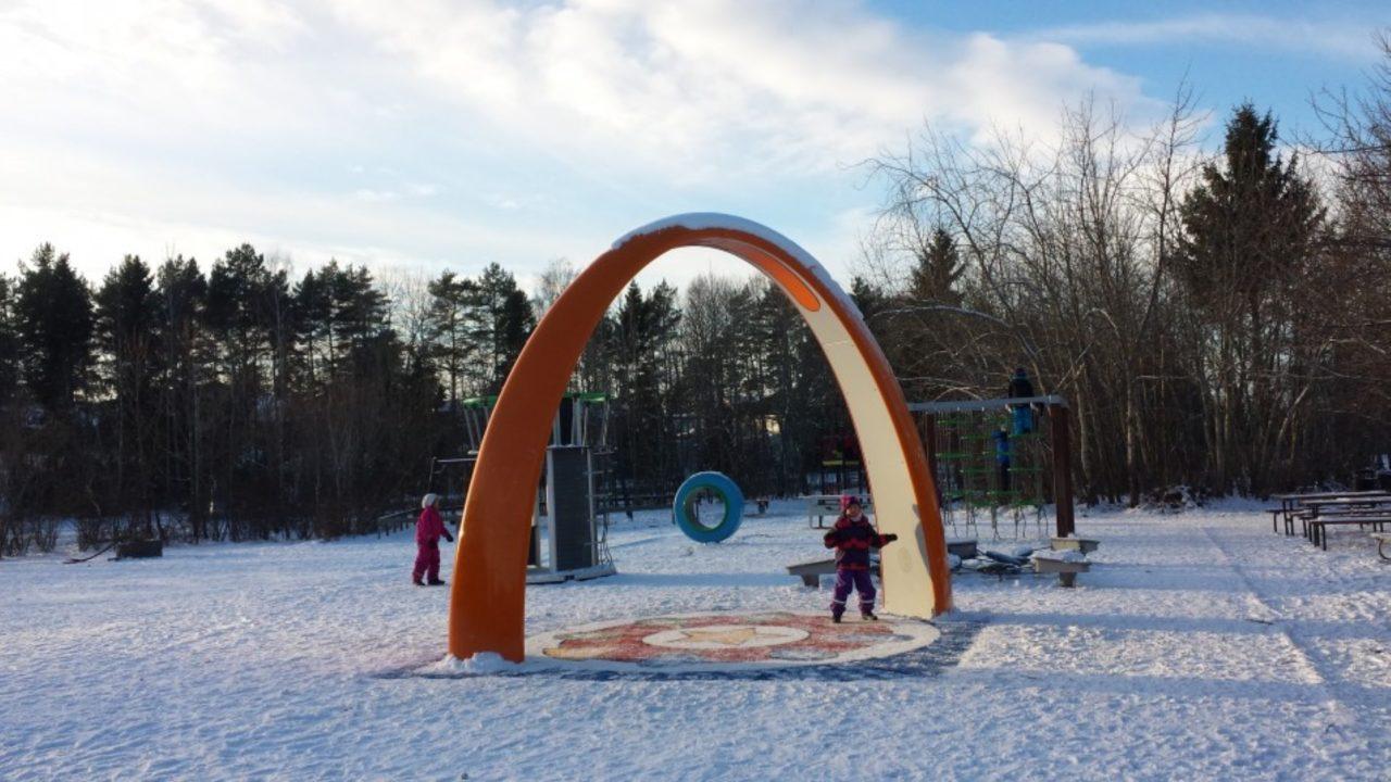 Yalp Sona Interactive dance and play arch | Bergvretenskolan, Sweden