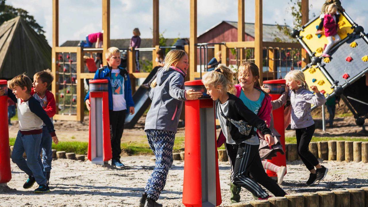 Yalp Memo Interactive play pillars | Norbyskolan, Denmark
