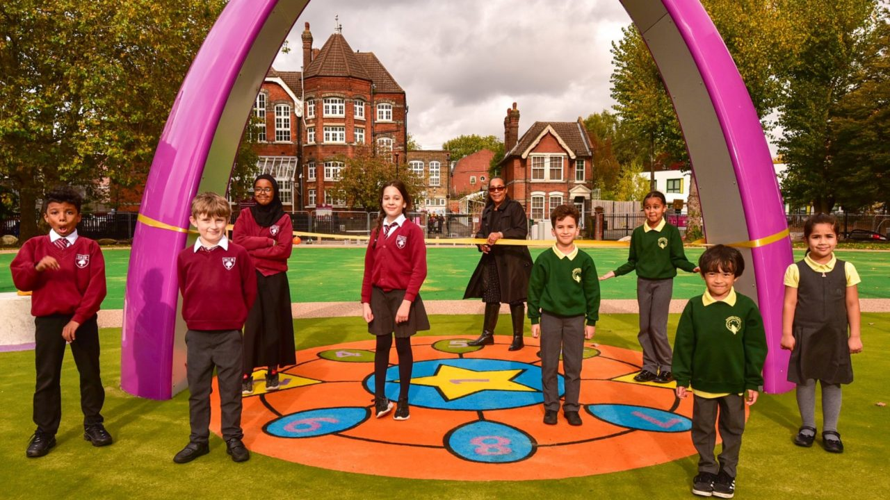 Re-opening Bollo Brook Park | Yalp Sona Interactive dance and play arch